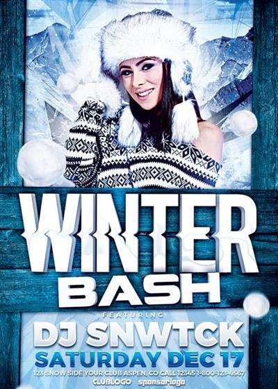 Winter Party V17 2017 Flyer Template