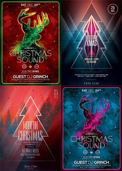 Christmas Flyer V11 4in1 Flyer Template