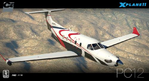 X11] - Carenado, Pilatus PC12 (Aircraft) - Самолёты и