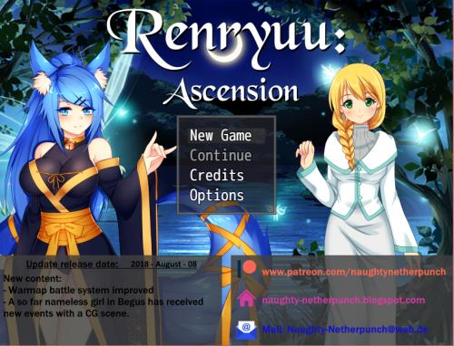 Renryuu: Ascension [InProgress, 2018/08/08] ([url=http://www.patreon.com/naughtynetherpunch]naughtynetherpunch [/url]) [uncen] [2017, jRPG, Fantasy, Nonhuman/Monster Girl, Rape, Creampie] [eng]